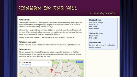 Minyan on the Hill